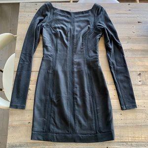 DVF black wool dress